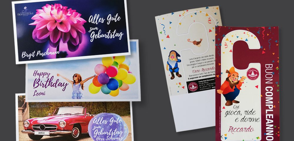 Geburtstags Mailing Postale Compleanni
